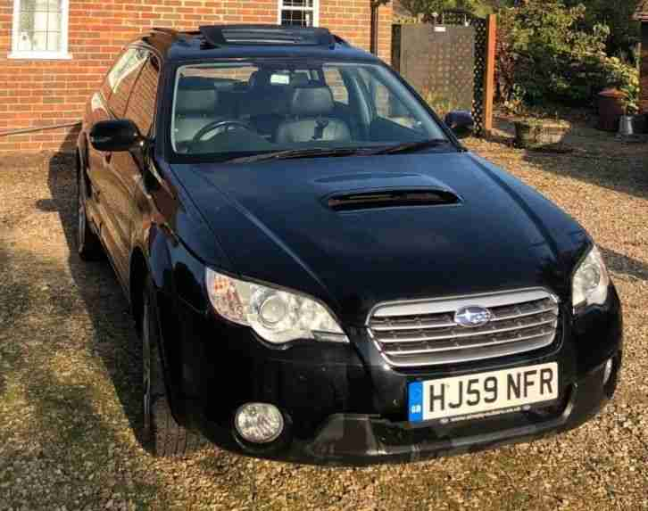 2009 59 Subaru Outback 2.0 Boxer Diesel 4wd Estate in Black Xenons Leather 110k
