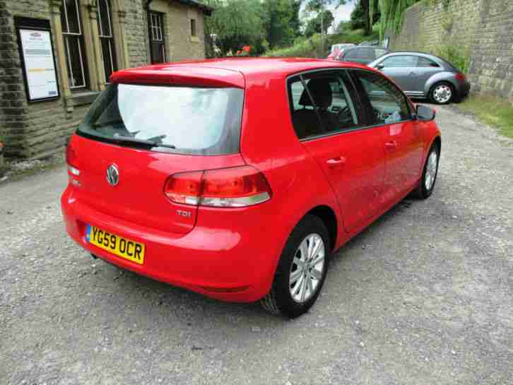 2009/59 VOLKSWAGEN GOLF S 1.6TDI [105] BRIGHT RED 5DR MANUAL HATCH - LOW RESERVE