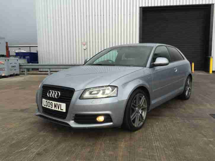 audi 2009 a3 s line sport edition tdi 138 silver not damaged black. Black Bedroom Furniture Sets. Home Design Ideas