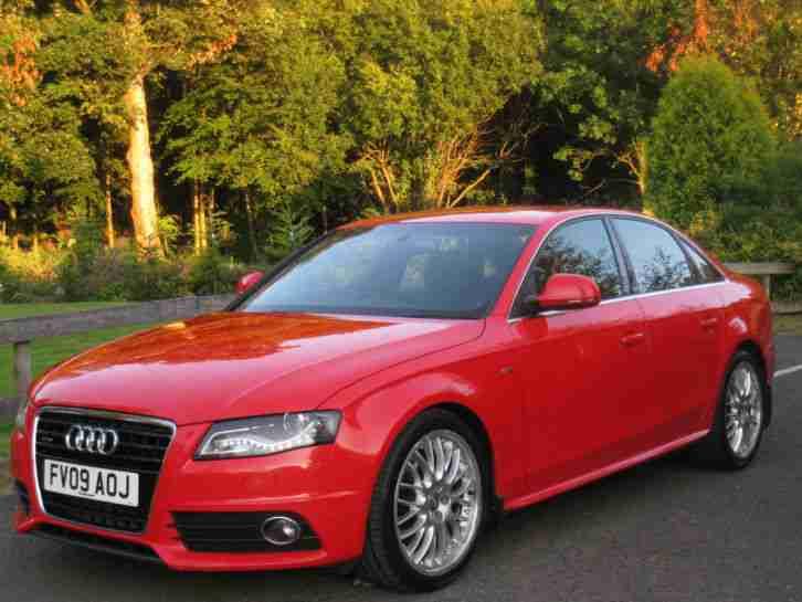 Audi 2009 A4 30 Tdi Quattro S Line Auto Rare Misano Red 19 Split