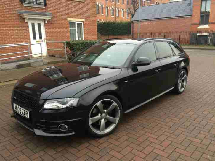 Audi 2009 A4 Avant S Line 20tdi Auto Black Car For Sale