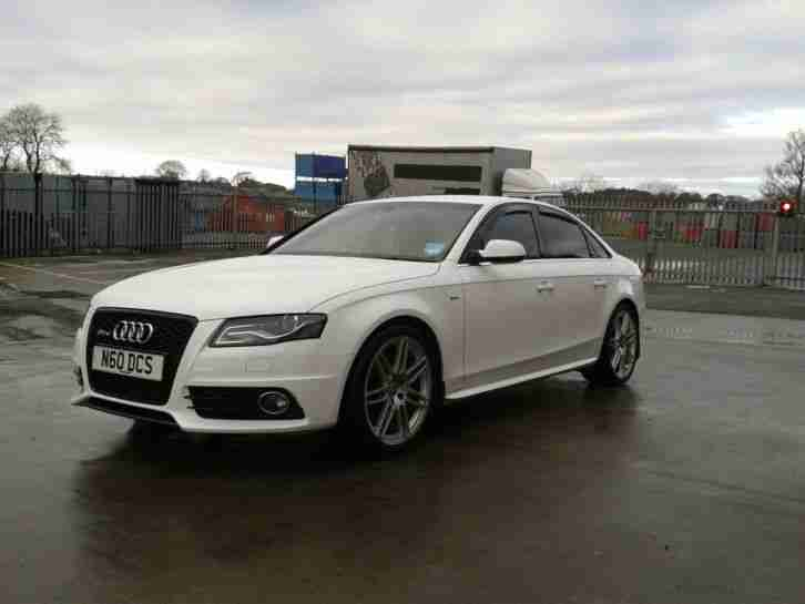 audi 2009 a4 s line 170 tdi dpf white car for sale. Black Bedroom Furniture Sets. Home Design Ideas