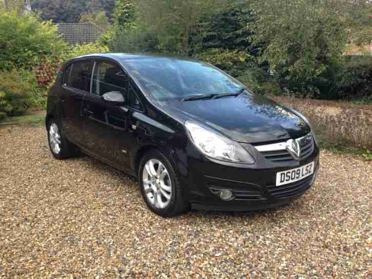 2009 BLACK Vauxhall Corsa 1.4i 16V SXi 5dr - EXCELLENT CONDITION