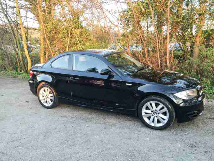 2009 BMW 1 SERIES 120D SE BLACK COUPE