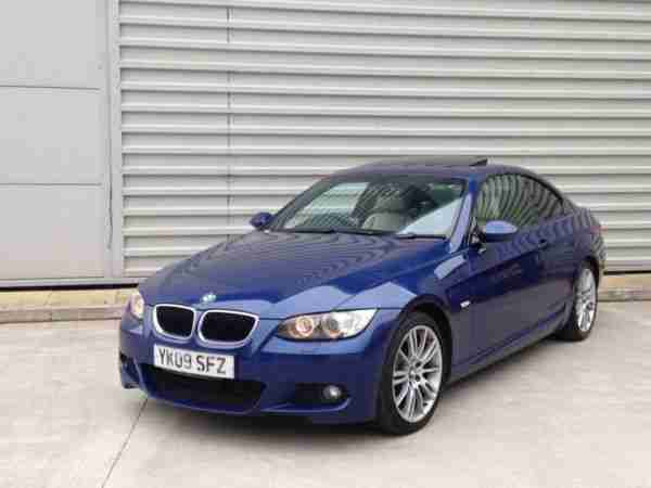 bmw 2009 320d m sport coupe auto 2dr full cream leather sunroof auto. Black Bedroom Furniture Sets. Home Design Ideas