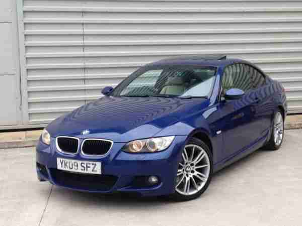 2009 BMW 320D M SPORT COUPE AUTO 2dr****FULL CREAM LEATHER***SUNROOF**AUTO