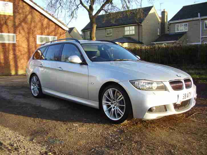 bmw 2009 325d m sport touring auto silver car for sale. Black Bedroom Furniture Sets. Home Design Ideas