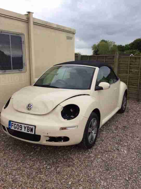 Damaged Repairable 1 6 VW Beetle Convertible Cabriolet