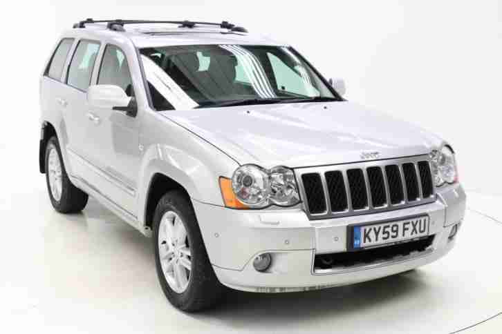 jeep 2009 grand cherokee 3 0 crd overland 5dr auto diesel silver car. Black Bedroom Furniture Sets. Home Design Ideas