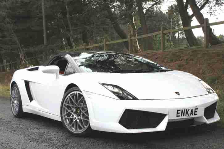 Lamborghini 2009 GALLARDO CONVERTIBLE LP560 WHITE FACELIFT