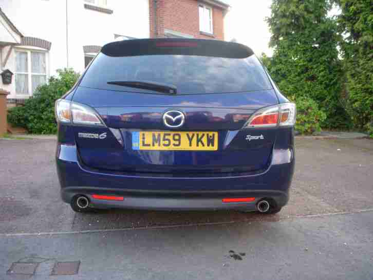 2009 MAZDA 6 SPORT D BLUE 185 BHP DAMAGED ENGINE SPARES OR REPAIR 2 KEYS
