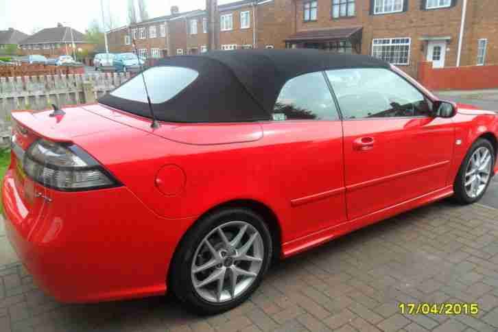 2009 SAAB 9-3 VECTOR SPORT TTID RED
