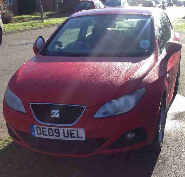 2009 SEAT IBIZA SPORT 1.6 3DR RED FULL SERVICE HISTORY