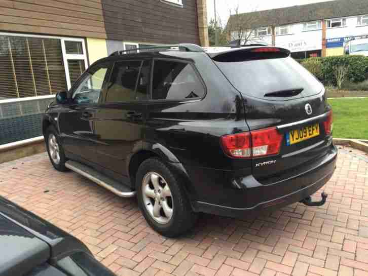 2009 SSANGYONG KYRON 2.7SPR 4WD AUTO BLACK DIESEL