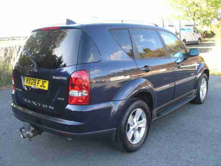 2009 SSANGYONG REXTON 270 SPR 4X4 AUTOMATIC TURBO DIESEL FOUR WHEEL DRIVE ESTATE