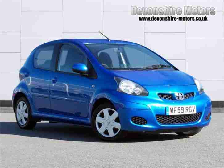 toyota 2009 aygo blue vvt i petrol blue manual car for sale. Black Bedroom Furniture Sets. Home Design Ideas