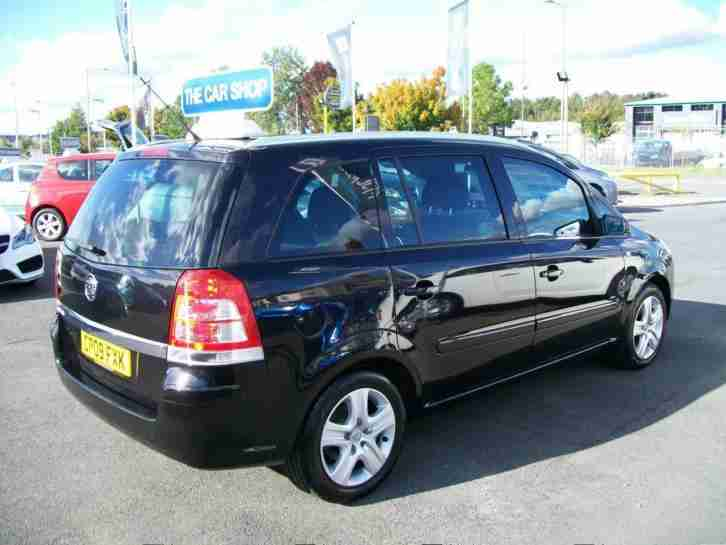 2009 VAUXHALL ZAFIRA 1.6i Active 7 SEAT TWO OWNERS AND BEST COLOUR BLACK