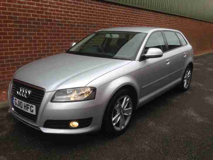 2010 10 AUDI A3 1.6 TDI SPORT 5 DOOR DIESEL,MANUAL,FASH,£20 TAX,1 OWNER CAR