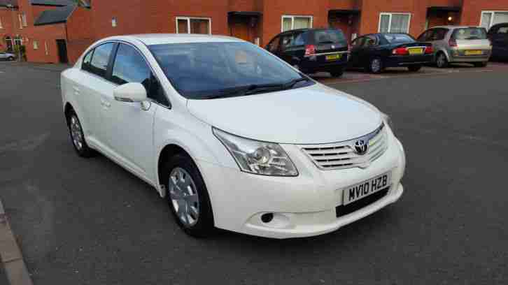 2010 10 REG NEW SHAPE TOYOTA AVENSIS 2.0 D4D T2 MANUAL SALOON 1 OWNER 3 KEYS FSH