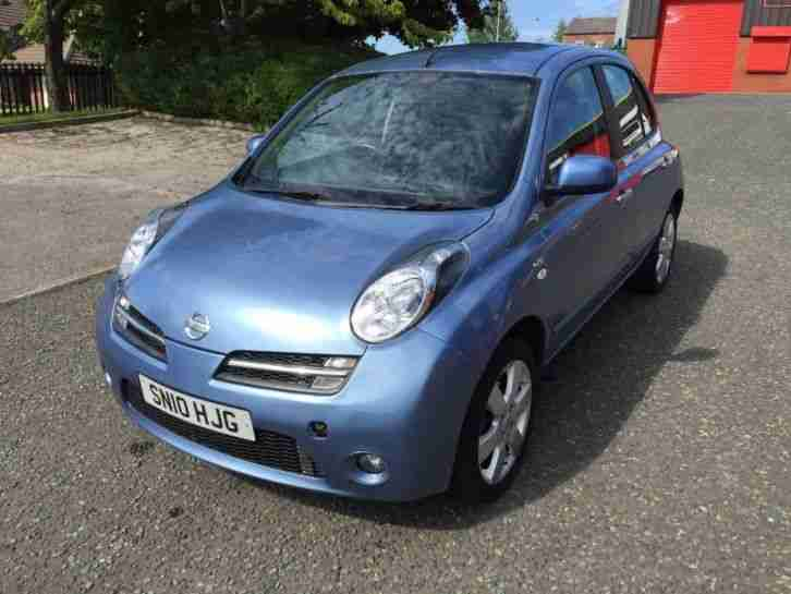 nissan 2010 10 reg micra n tec 1 2 5dr hatchback sat nav full service. Black Bedroom Furniture Sets. Home Design Ideas
