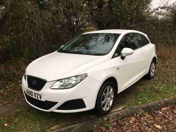 2010 (10) SEAT IBIZA 1.4 TDi ECOMOTIVE, WHITE, LONG MOT, FREE ROAD TAX EACH YEAR