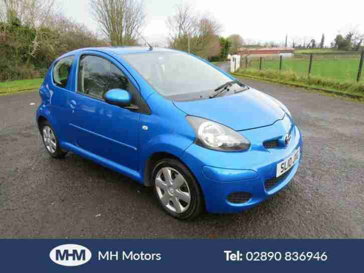 2010 10 TOYOTA AYGO 1.0 BLUE VVT I 3DR ONLY 60,000 MILES LOW INS. MOT DEC 20