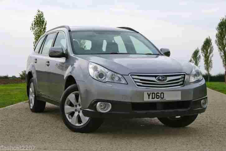 2010/60 SUBARU OUTBACK 2.5i SE NAVPLUS AUTO 4X4 SUV, STEEL SILVER, BLACK LEATHER