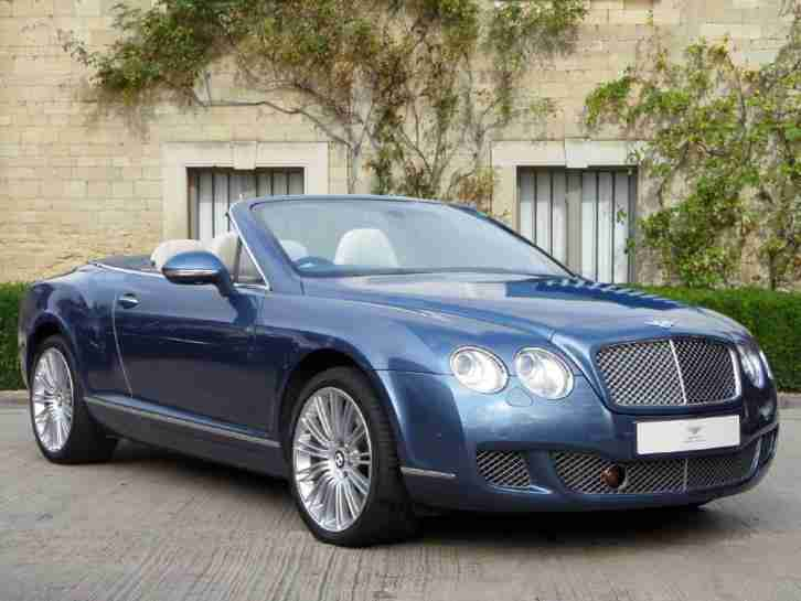 2010 Bentley Continental GTC SPEED PETROL/ALCOHOL Blue Automatic