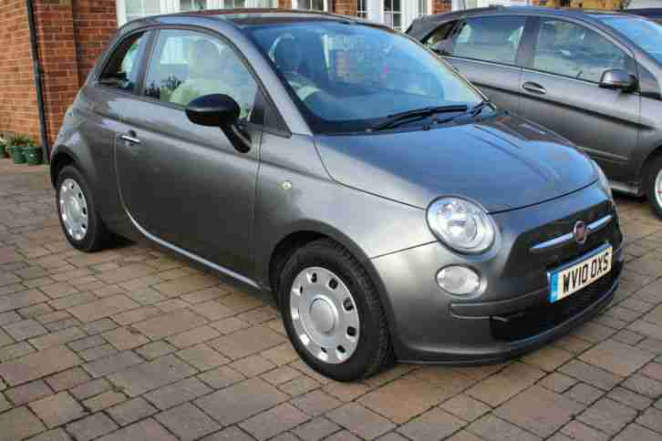 2010 FIAT 500 POP GREY BLUETOOTH AIR CON FULL SERVICE HISTORY 1 YEAR MOT