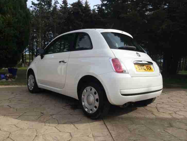Fiat 2010 500 POP WHITE. car for sale
