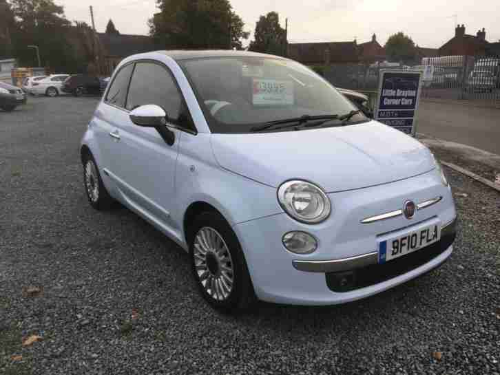 2010 Fiat 500 1.2 LOUNGE blue (3 Months AA Warranty)
