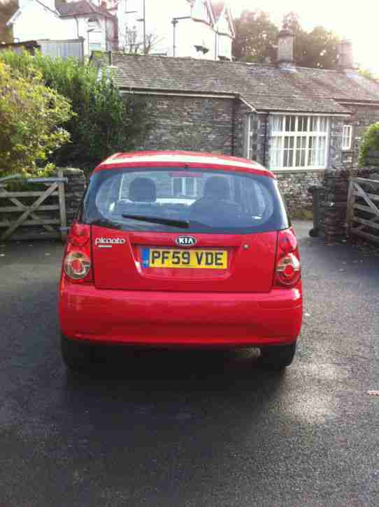 2010 KIA PICANTO 1.1 STRIKE PETROL AUTOMATIC 5d RED Immaculate. Low mileage