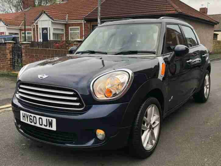 2010 MINI COUNTRYMAN COOPER D ALL4 IN COSMIC BLUE,DIESEL 4X4,SAT NAV, PX WELCOME