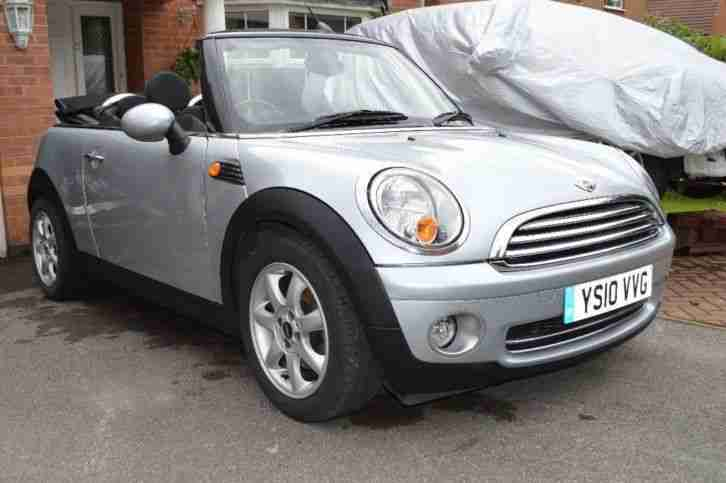 2010 MINI Convertible 1.6 Cooper [122] 2dr [Chili Pack] Petrol Silver Manual