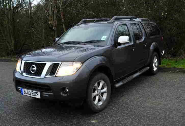 2010 Nissan Navara D/C DCI 190 Tekna Connect Top of the Range NO VAT. SAT NAV