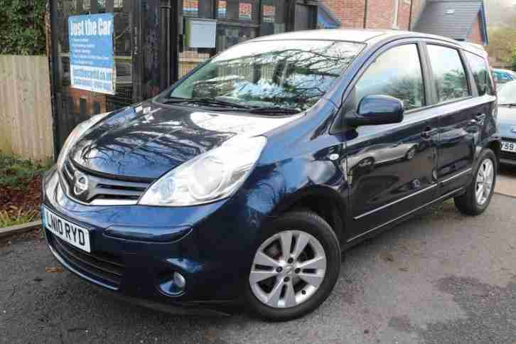 2010 Nissan Note 1.4 ACENTA Blue 5 Door FSH Long MOT Low Miles Finance Available