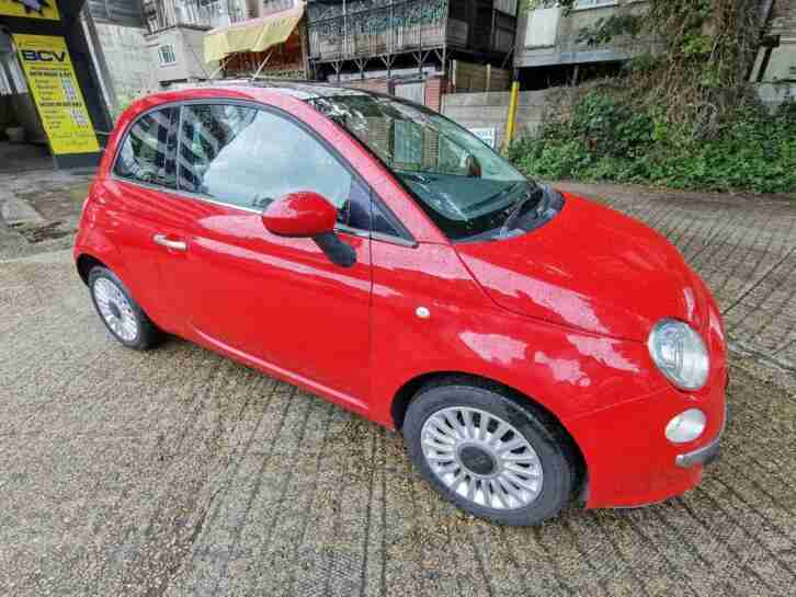 2010 Red Fiat 500 1.2 Lounge with 1 Year Fresh MOT