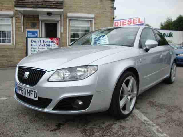2010 SEAT EXEO 2.0 TDI CR SPORT TECH BLACK LEATHER and SAT NAV