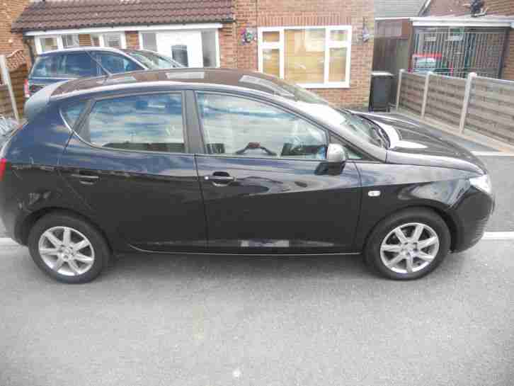 2010 SEAT IBIZA ECOMOTIVE 1.4 TDI BLACK, 5 DOOR, JUST SERVICED, DRIVES PERFECT