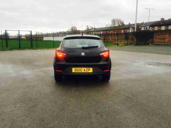 2010 SEAT IBIZA SE BLACK 3 DOOR CAT C DAMAGED REPAIRED SALVAGE BARGAIN L@@K!!!