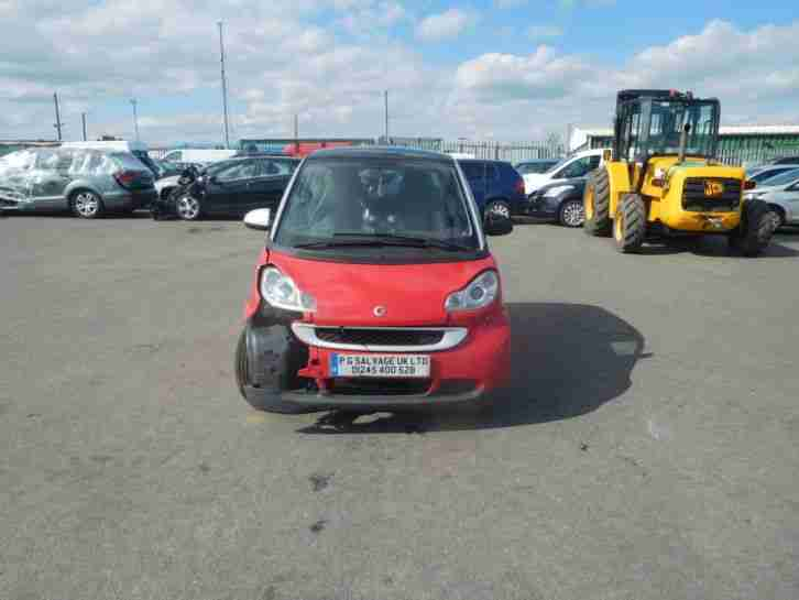 2010 SMART FORTWO PASSION 84 1.0 PETROL AUTOMATIC DAMAGED REPAIRABLE SALVAGE