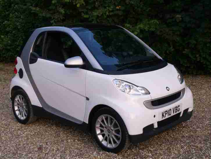 Smart 2010 Fortwo Passion Cdi 54 A White Car For Sale
