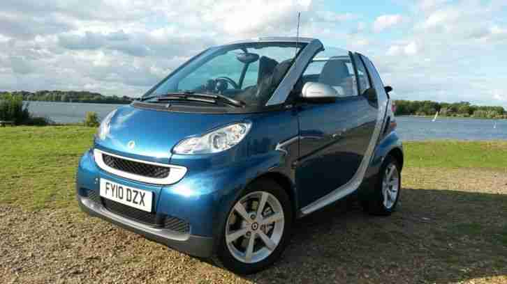 2010 Smart Fortwo MHD Pulse Convertible Enthusiast Owned Full History Zero Tax