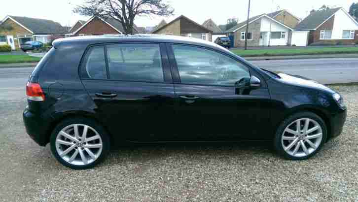 "2010 VOLKSWAGEN GOLF SE 1.6 TDI BLACK 18"" ALLOYS 44k"