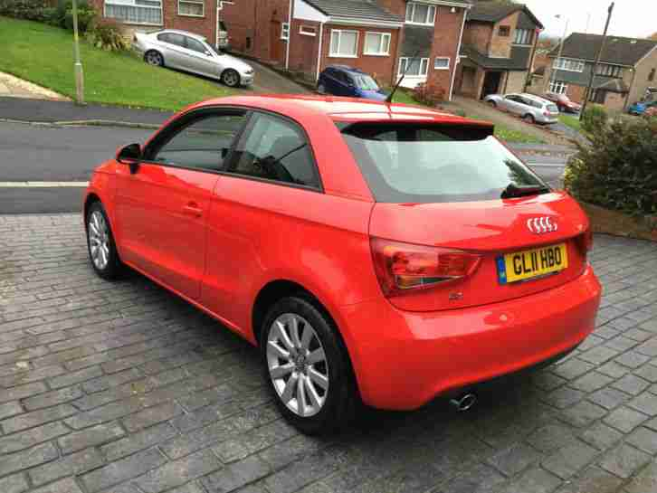 2011 11 REG AUDI A1 SPORT TDI RED CHEAP ROAD TAX MAY PX