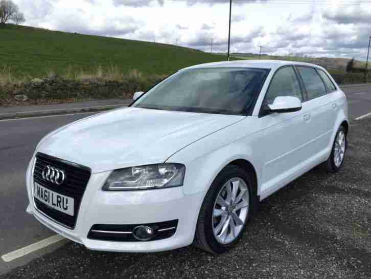 2011 '61' AUDI A3 SPORT 2.0 TDI SPORTBACK 5 DOOR 6 SPEED MANUAL IN IBIS WHITE