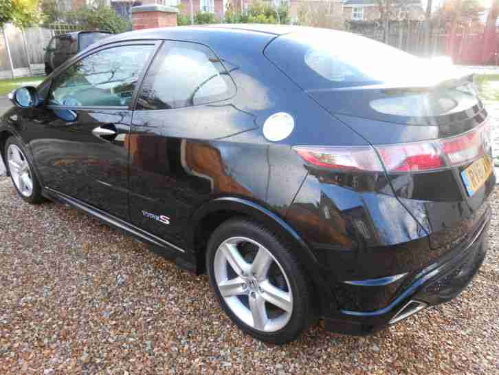 2011 61 REG HONDA CIVIC TYPE S GT I-CTDI BLACK VERY LOW MILES,HONDA SERVICE HIST