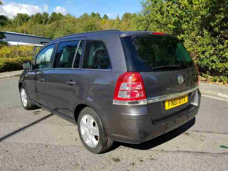 2011 61 REG ZAFIRA EXCLUSIVE 1.8i
