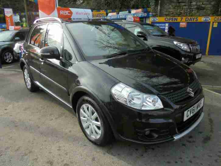 2011 61 SUZUKI SX4 1.6 X EC IN BLACK # 2 OWNERS JUST 40000 MLS FSH #