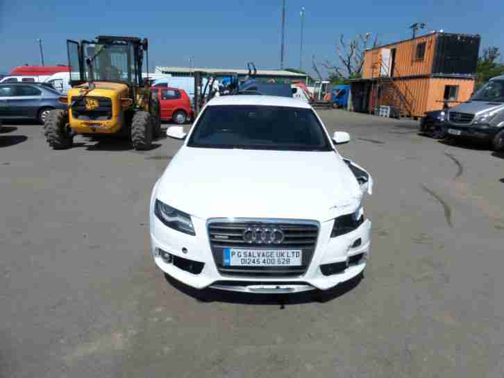 2011 AUDI A4 SLINE SP ED TDI CVT 143 2.0 DIESEL AUTO DAMAGED REPAIRABLE SALVAGE